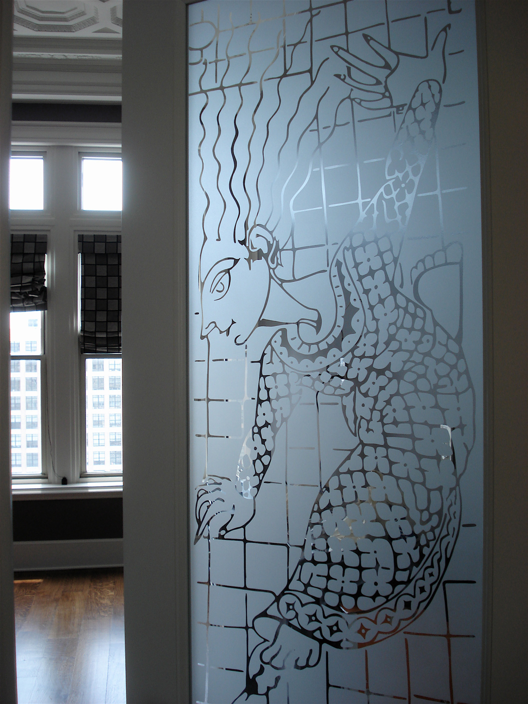 Portfolio carved designs memphis for Frosted glass designs